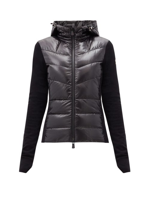 Moncler Grenoble - Maglie Knitted-sleeve Quilted Down Jacket - Womens - Black