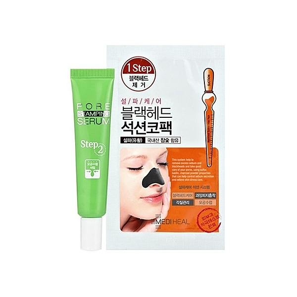 韓國 MEDIHEAL 黑頭散退兩步驟鼻貼組合(鼻貼x10+緊緻精華10ml)【小三美日】原價$149