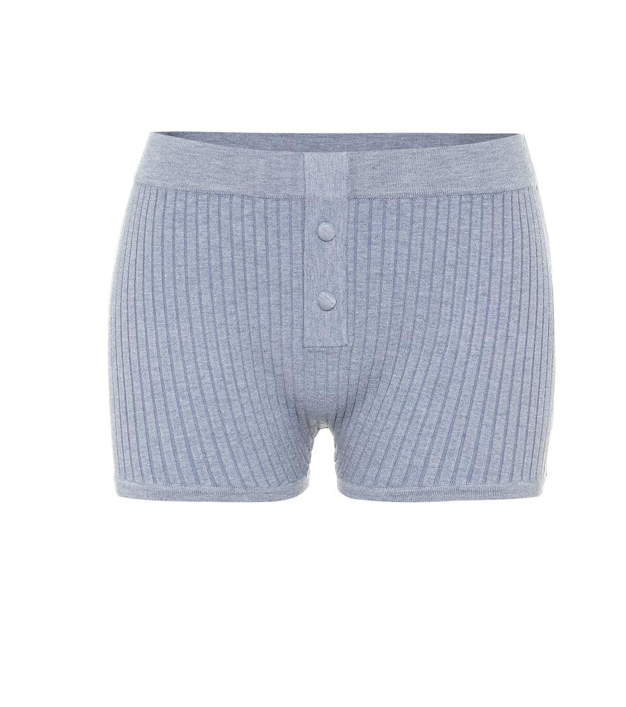 Ribbed-knit shorts