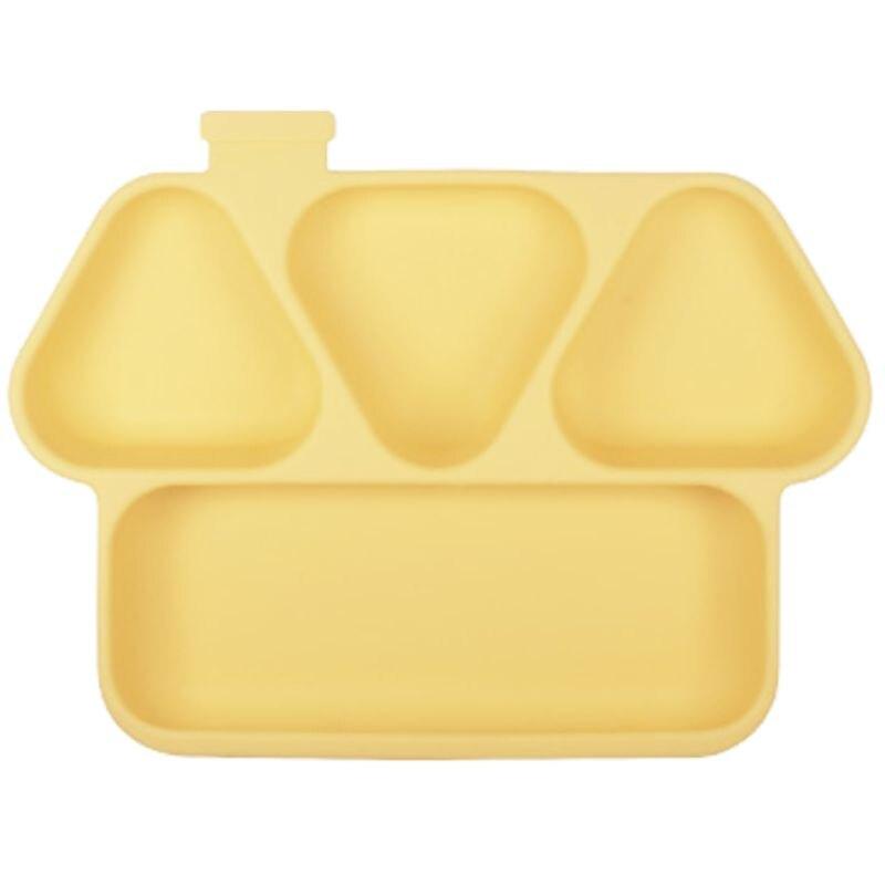 COCONORY 趣味房子分格吸力餐盤-黃(COCOMH-01Y)★衛立兒生活館★