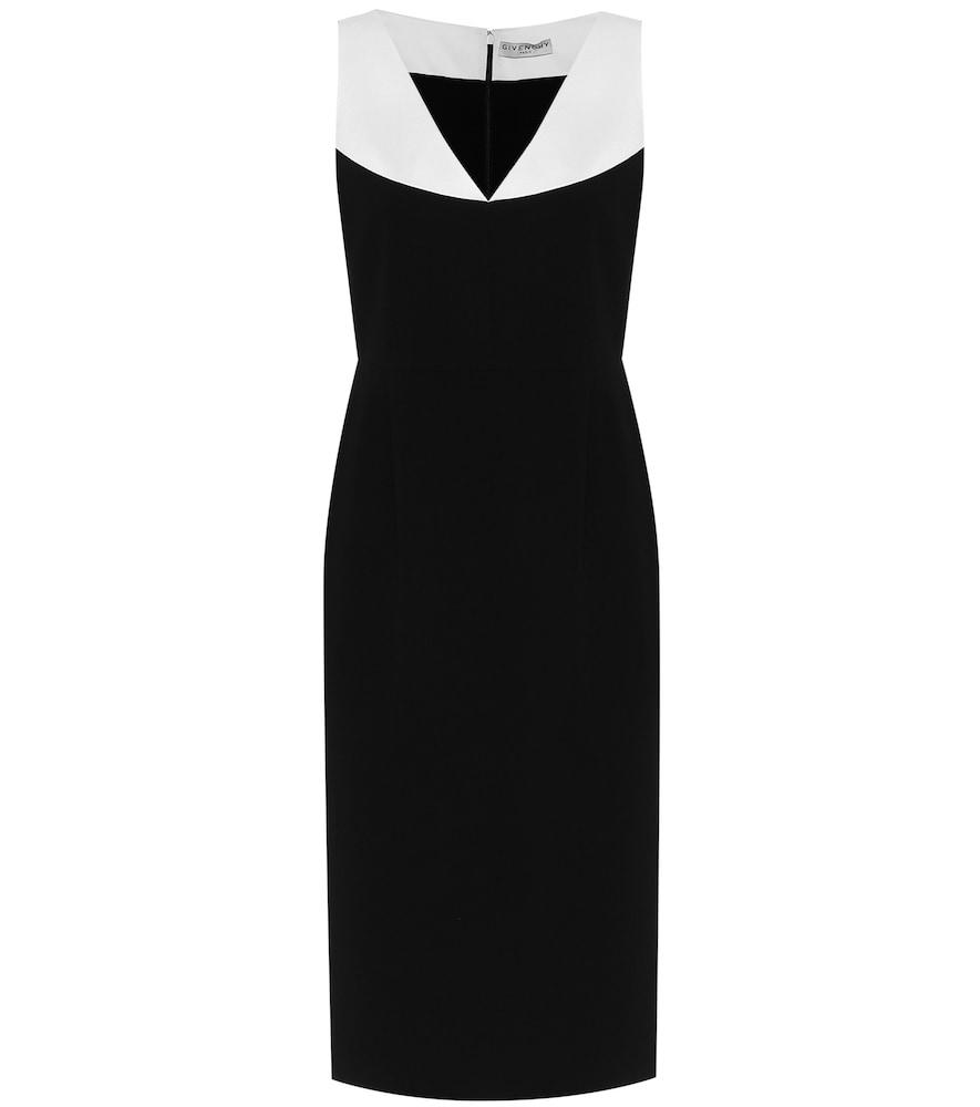 Colorblocked cady midi dress