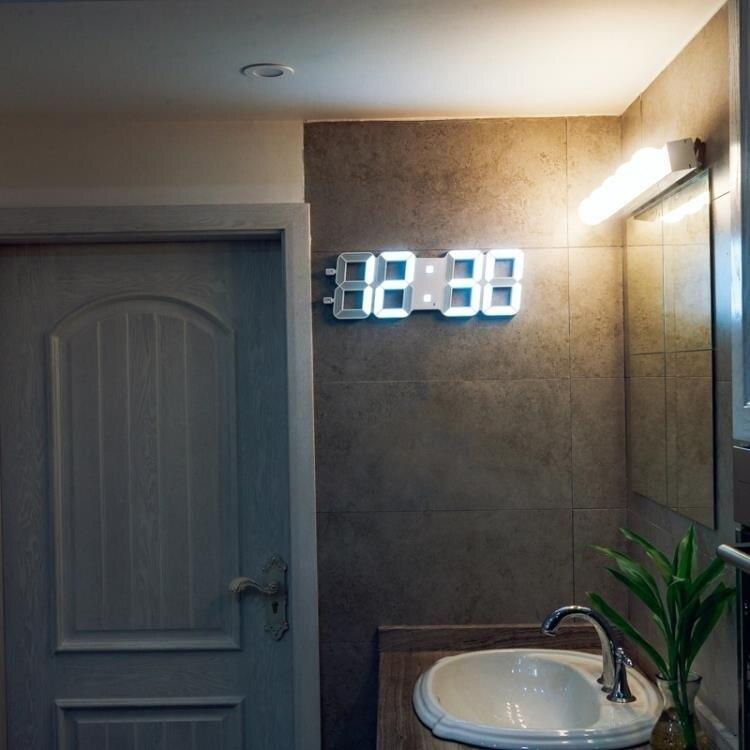 掛鐘 萬年歷ld電子鐘客廳簡約現代時鐘多功能大數字夜光靜音  【新年鉅惠】