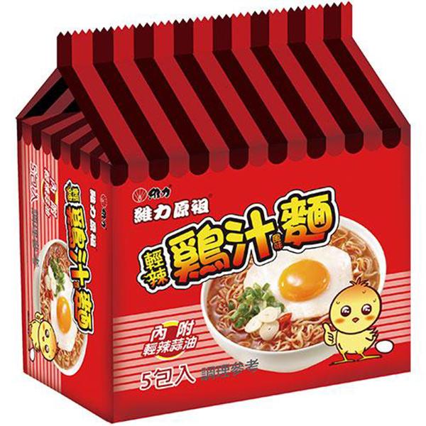 維力原祖輕辣雞汁風味麵70g(5入)x6袋/箱【康鄰超市】