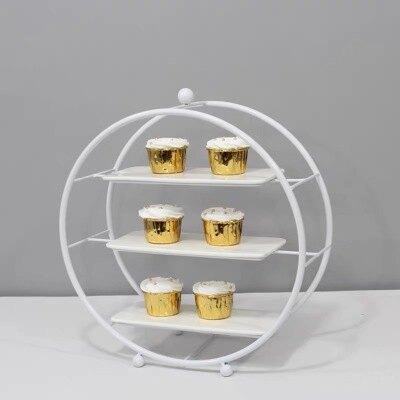 蛋糕點心架 自助餐甜品台擺件展示架套裝冷餐會茶歇擺台歐式果盤蛋糕點心架子『CM38589』