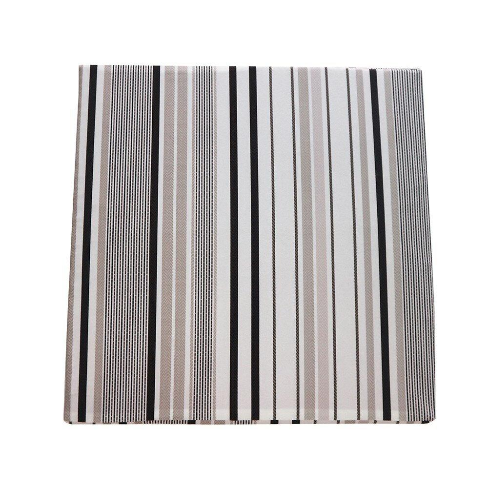 【J&N】現代條紋白咖立體坐墊55x55x5/2入/1組  樂天雙11購物節