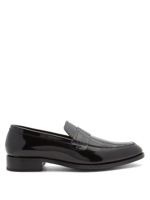 Givenchy - Logo-debossed Patent-leather Loafers - Mens - Black
