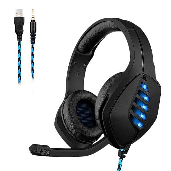 頭戴式耳機電腦遊戲耳麥台式筆記本發光線控PS4電競耳機【快速出貨】