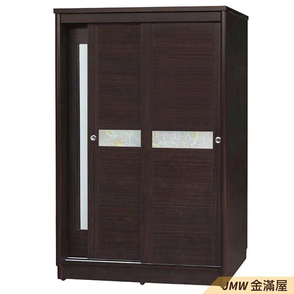 120cm衣櫃衣櫥金滿屋木心板 推門滑門開門 衣服收納 免組裝-k164-147 -