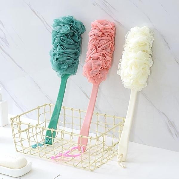 洗澡刷 素雅軟毛搓背刷成人洗澡沐浴球加長手柄搓澡沐浴刷浴刷後背刷子