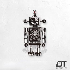 DT Time搖擺木質系列 - 愛心機器人