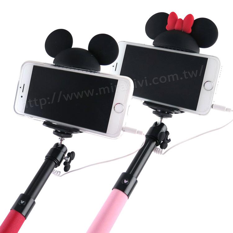 【Disney 】Hamee 迪士尼Disney 誰的大耳朵系列 線控自拍棒 自拍神器 可伸縮 免藍牙