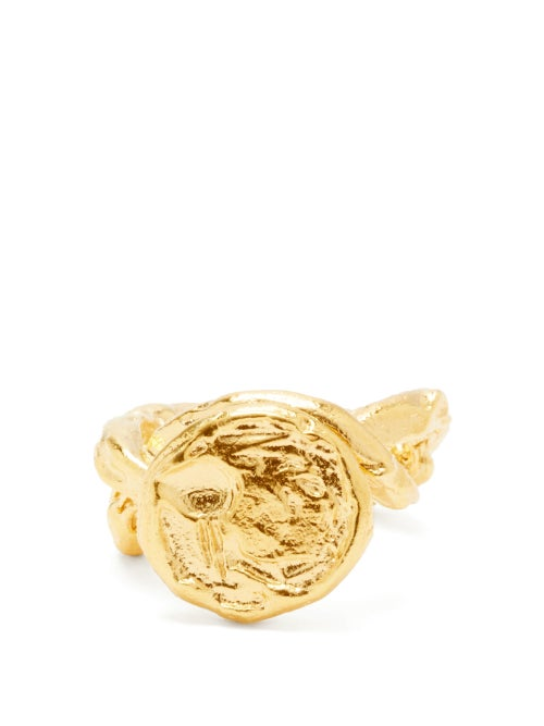 Alighieri - The Wasteland 24kt Gold-vermeil Ring - Womens - Gold
