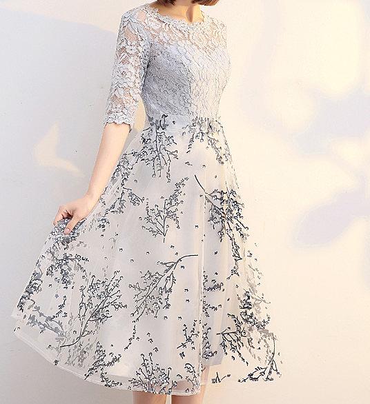 (45 Design) 洋裝禮服婚禮洋裝伴娘禮服洋裝小禮服中長禮服小洋裝蕾絲洋裝媽媽禮服5