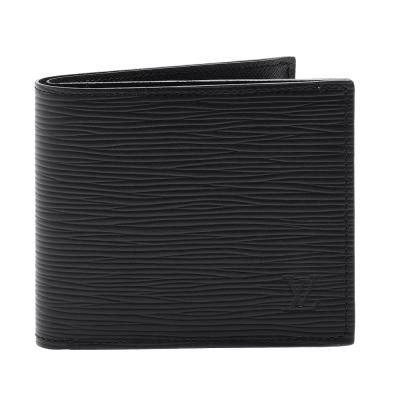 LOUIS VUITTON M62289 經典EPI水波紋信封式零錢袋對折短夾(黑)