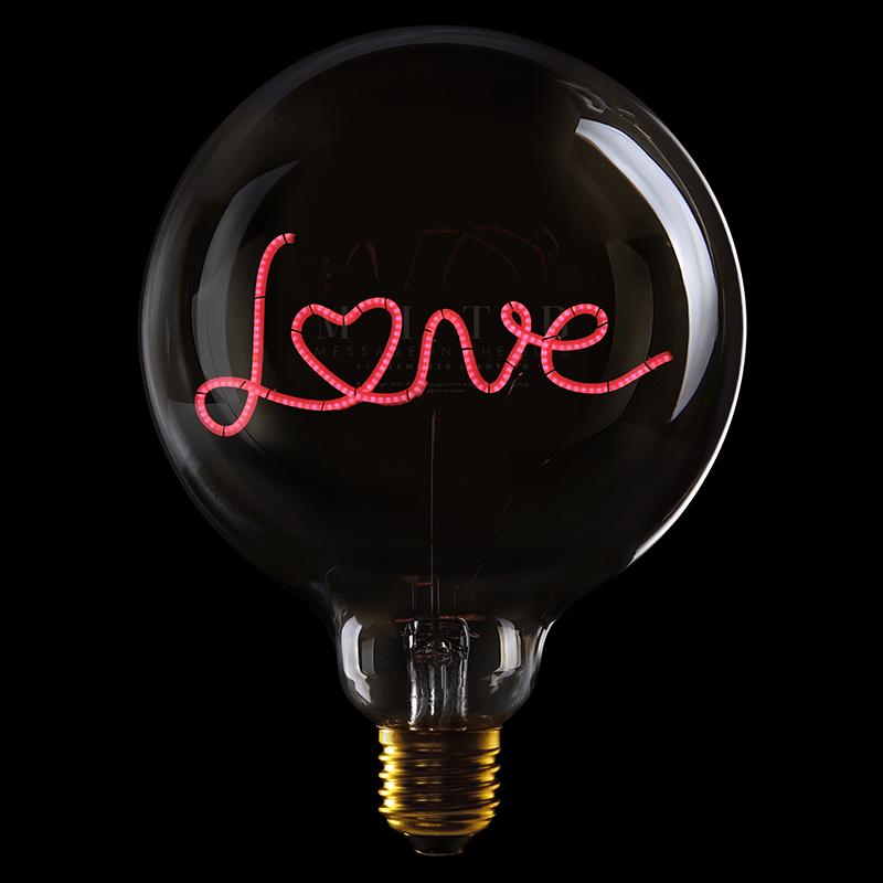 字母造型LED燈泡(單排) Paris(琥珀色鏡面琥珀色燈)