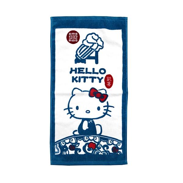 【Sanrio三麗鷗】故宮xHello Kitty 童巾 100%棉 28x54cm
