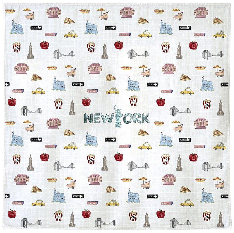 Benibaby竹棉柔軟嬰兒新生兒包巾寶貝襁褓蓋毯 纽约款式禮盒裝