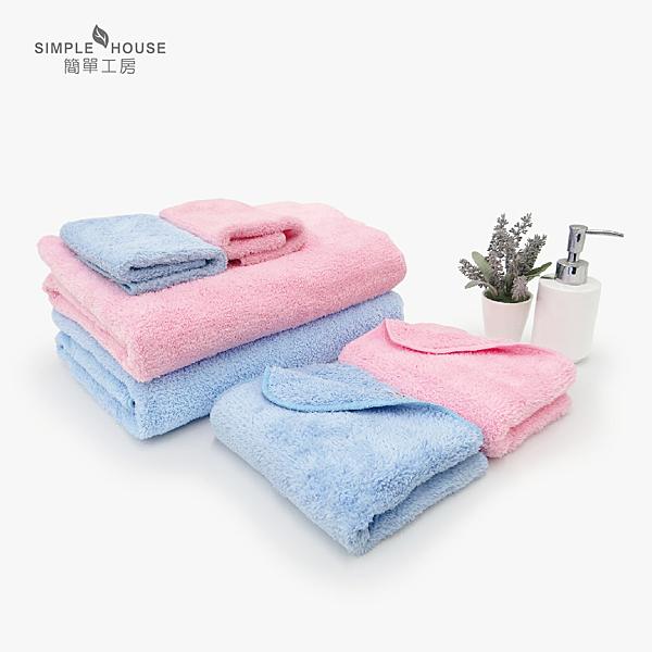 【簡單工房】極超細纖維浴毛方巾3件組(長毛) 台灣製造 [不掉棉絮]