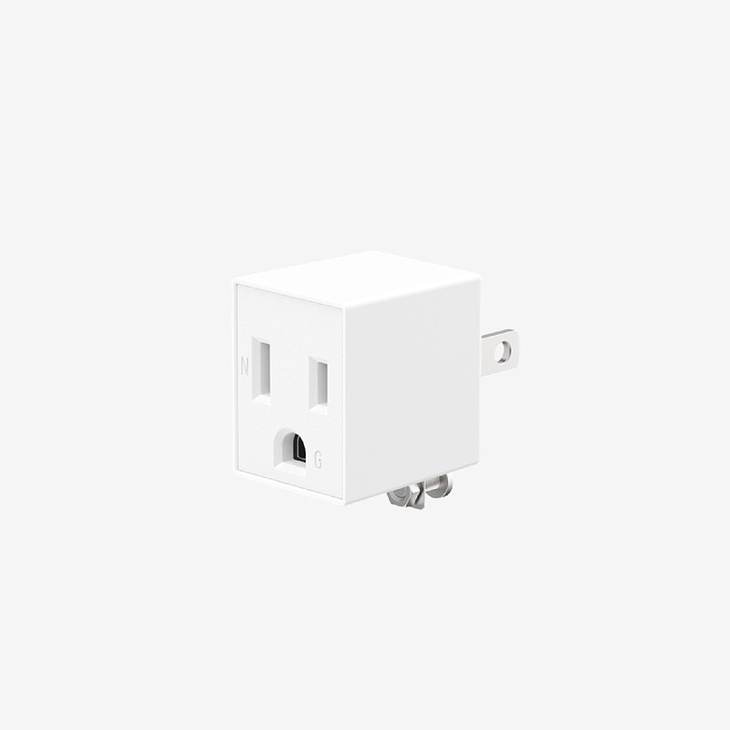 Unipapa 延長線配件 3轉2電源轉接頭 白色
