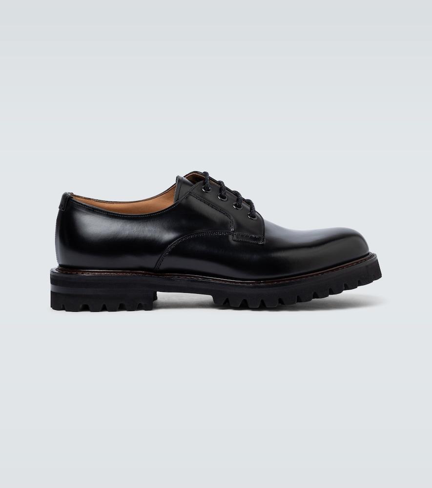 Chester polished binder Derby shoes