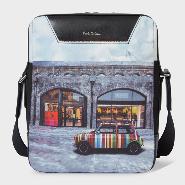 'Mini Kings Cross' Print Canvas Flight Bag