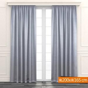 優雅奢華遮光窗簾 寬200x高165cm 金色