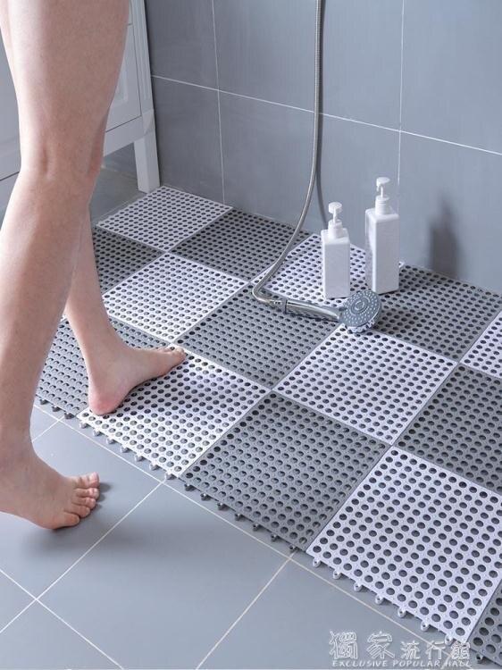 防滑墊浴室防滑墊淋浴房家用洗澡間衛生間地墊墊子廁所拼接隔水防水【99購物節】