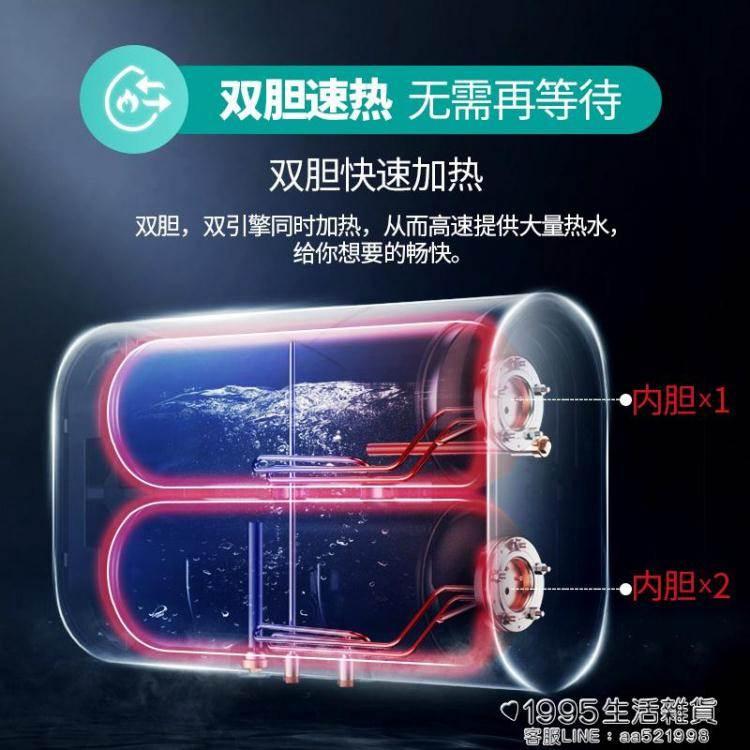 熱水器 超薄扁桶儲水式熱水器電家用淋浴洗澡小型40/50/60升