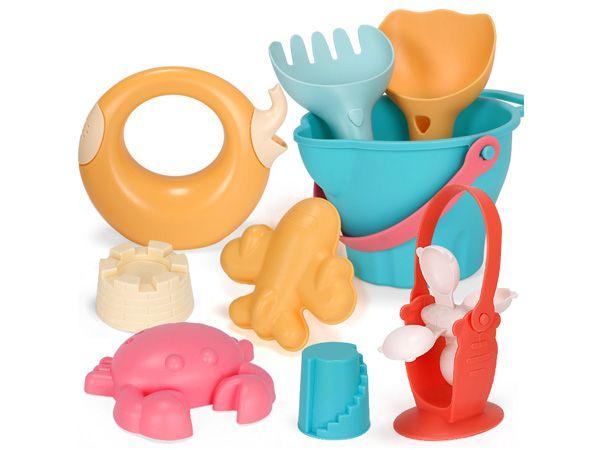 夏日兒童海灘戲水玩具(136-C)9件組【D021691】顏色隨機出貨