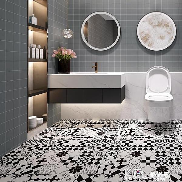 加厚防水耐磨地板貼紙衛生間陽臺防滑地貼廚房浴室淋浴房瓷磚貼膜