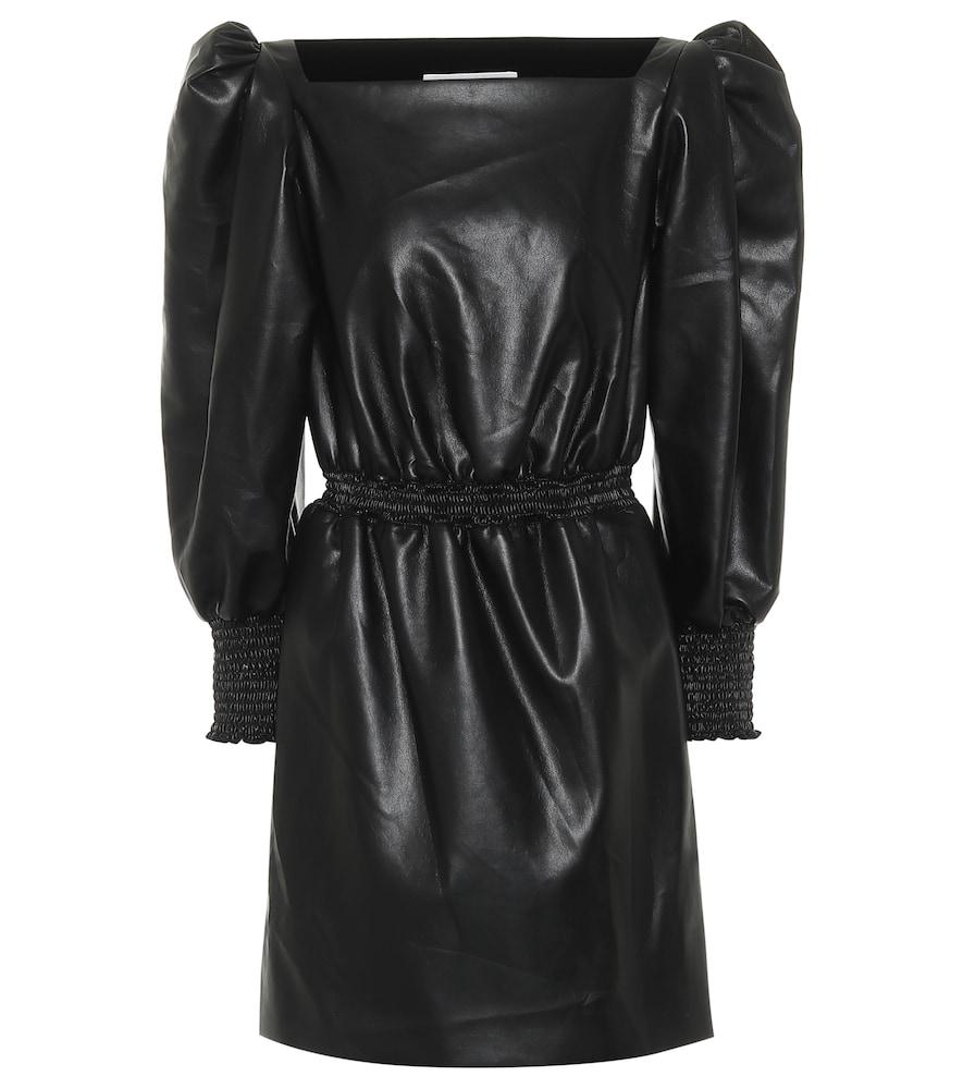 Faux leather minidress