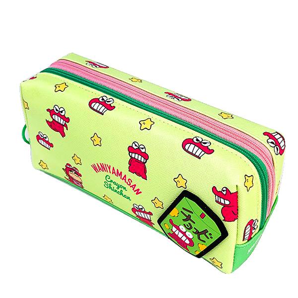 【崑山玩具x日韓精品】日本進口 恐龍餅乾皮革雙層收納筆袋