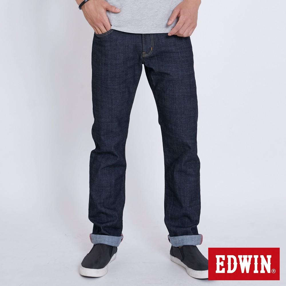 EDWIN 復刻EDGE五袋紅線直筒牛仔褲(原藍色)-男款