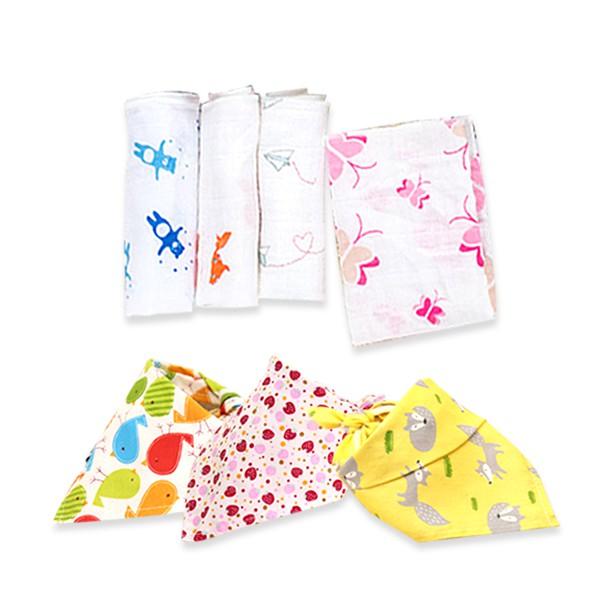 寶寶三角巾 圍兜手帕紗布巾【B050A】【B1012】