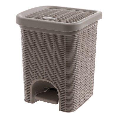 腳踏分類垃圾桶 創意客廳小紙簍 家用衛生間廚房有蓋垃圾簍 仿藤編腳踏式垃圾桶 腳踩彈蓋桶 內附桶 【精品】