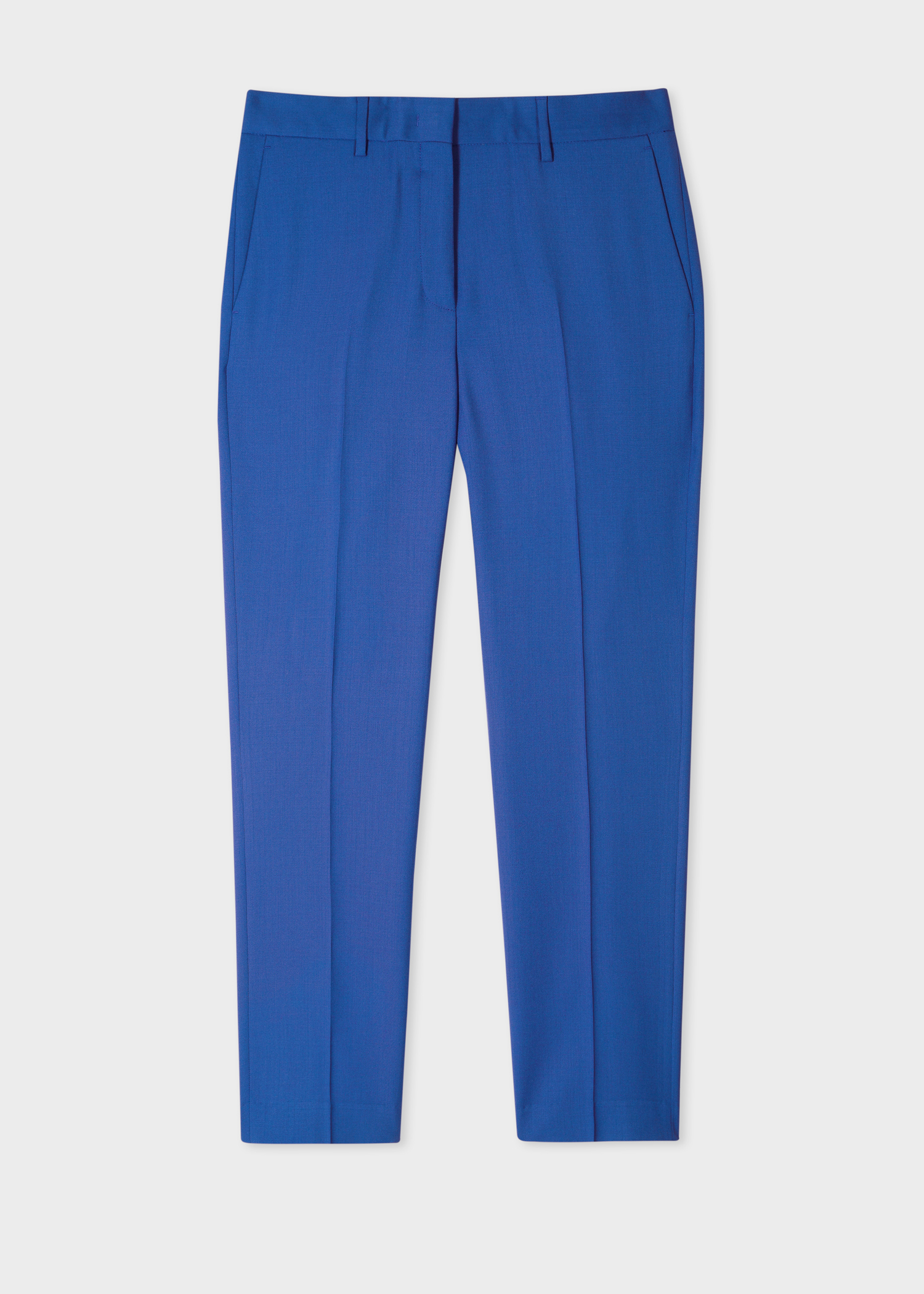 A Suit To Travel In - Women's Slim-Fit Indigo Wool Trousers
