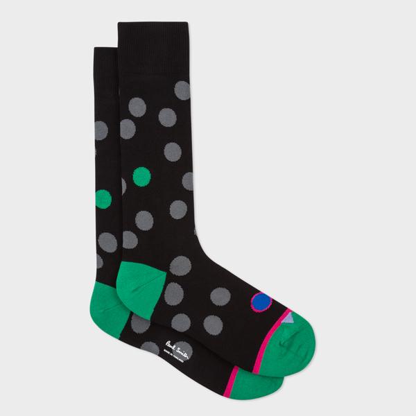 Men's Black 'Monster Dot' Socks