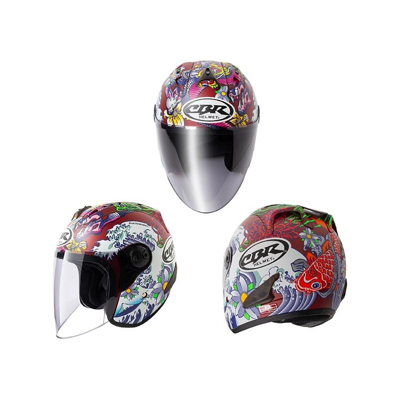 CBR 安全帽 S70 R4 浮世繪 平紅 R帽 全可拆洗 3/4罩 半罩 安全帽【淘帽屋 送10%蝦幣回饋】