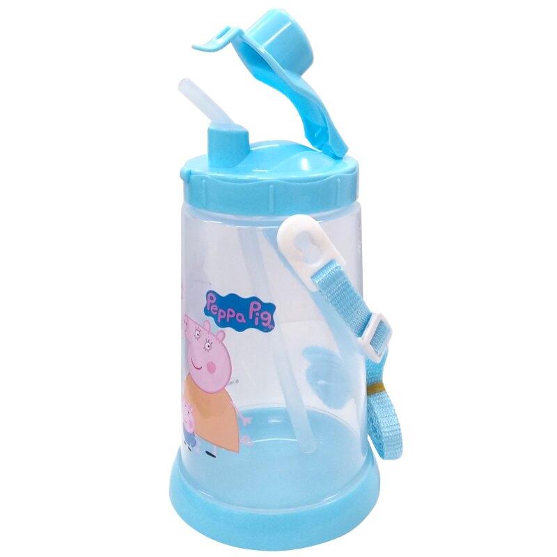 佩佩豬 胖胖吸管水壺650ml(藍)★愛兒麗婦幼用品★