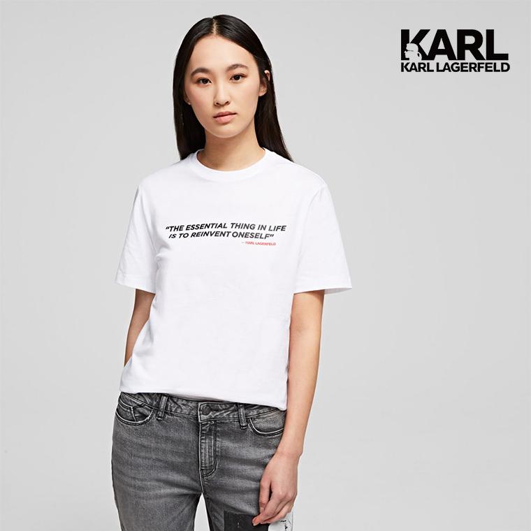 【KARL LAGERFELD】傳奇KARL T恤-白