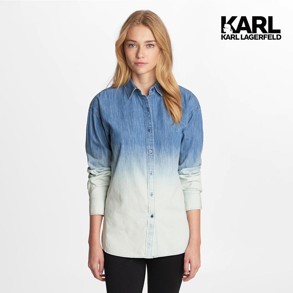 【KARL LAGERFELD】KARL漸層襯衫