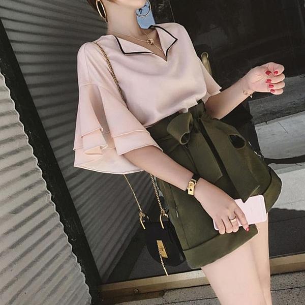 胖mm大碼女裝夏季休閒減齡遮肚洋氣顯瘦時尚兩件套裝潮-Milano米蘭