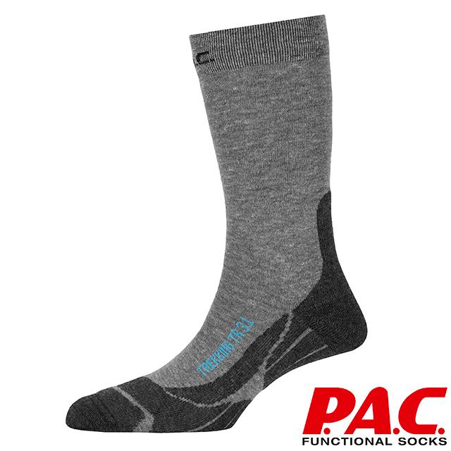 【PAC 德國】中筒健行襪(PAC8030 灰/深灰)