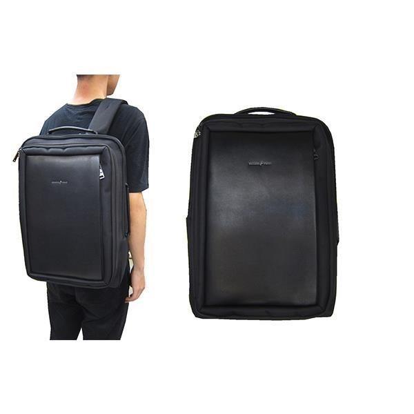 ~雪黛屋~SKYBOW 後背包大容量14吋電腦可A4夾二層主袋+外袋共六層固定桿