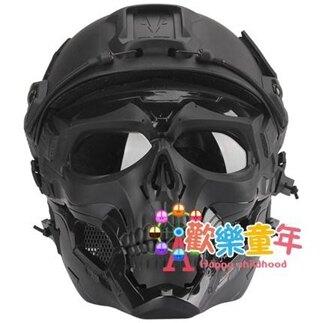 面具 戰術兵骷髏使者面具全臉防護面罩軍迷野戰戰術裝備適配FAST頭盔【全館免運 限時鉅惠】