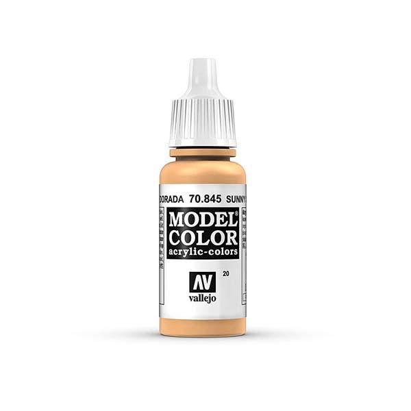 Acrylicos Vallejo 模型色彩 020 70845 日照膚色 17ml 萬年東海