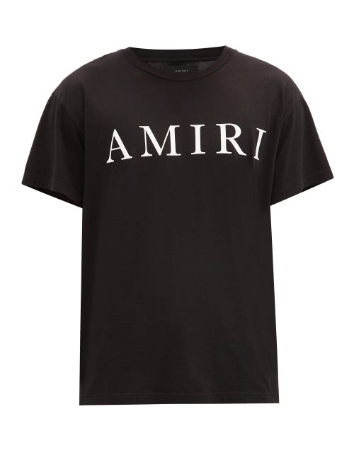 Amiri - Logo-print Cotton T-shirt - Mens - Black