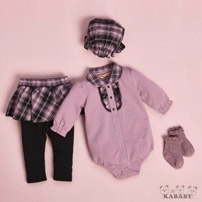 【金安德森】秋冬彌月禮盒-網布花邊短兔裝+假兩件褲裙 (粉色)