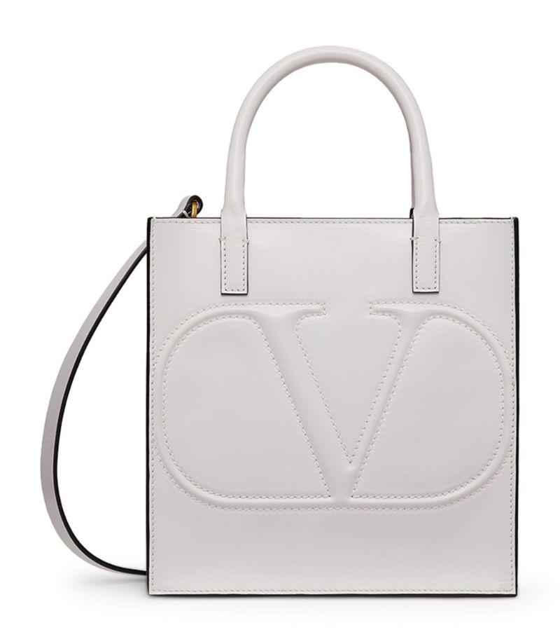 Valentino Valentino Garavani Small Leather Walk Tote Bag