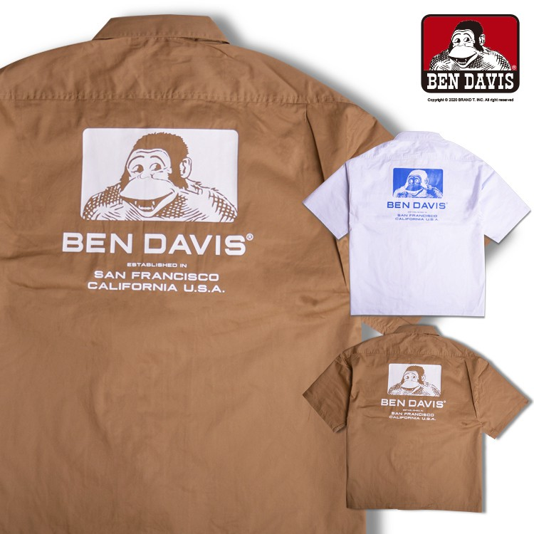 BEN DAVIS MOTOR-POOL WORK SHIRT 口袋 短袖 工作 襯衫 2色